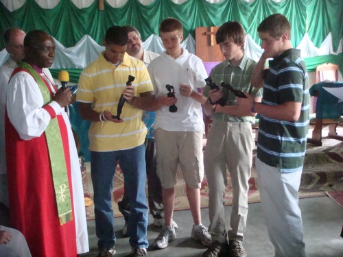 Dad, Bishop Augustin, Jon, Tom, Reid, Aaron, and Jarrett